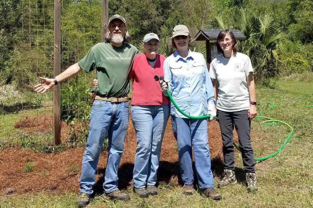 Former and current board members Pete Johnson, Jody Willis, Carol Bailey-White, Carolyn Antman