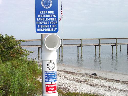 Fishing line recycling