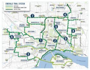 Groundwork Jacksonville Emerald Trail Map